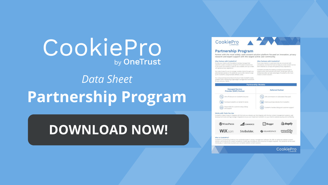 CookiePro Partnerships