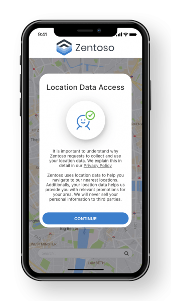 Mobile App Consent Location