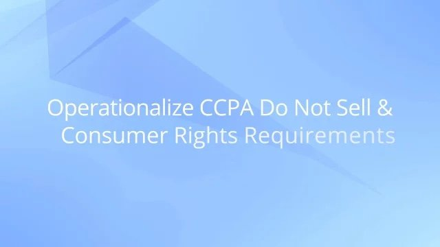 CCPA Do Not Sell