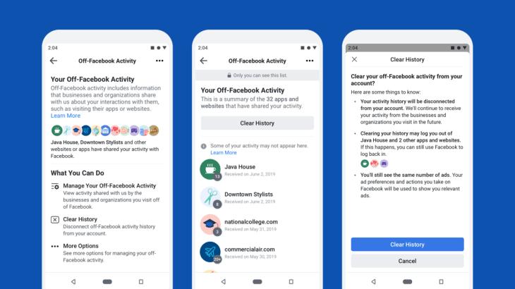 "Off-Facebook Activity"" feature"