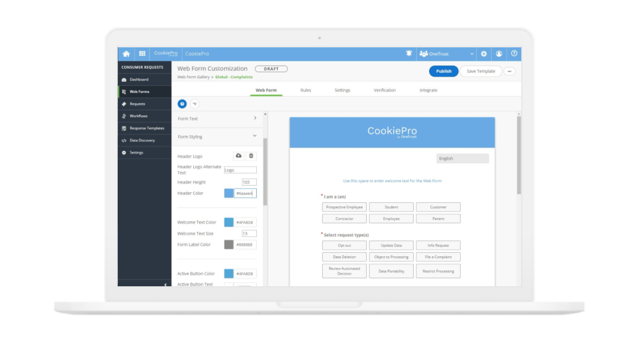 web form customization