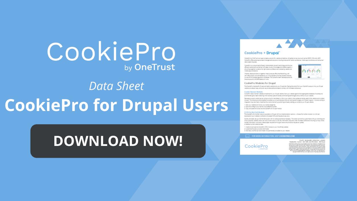 Drupal data sheet