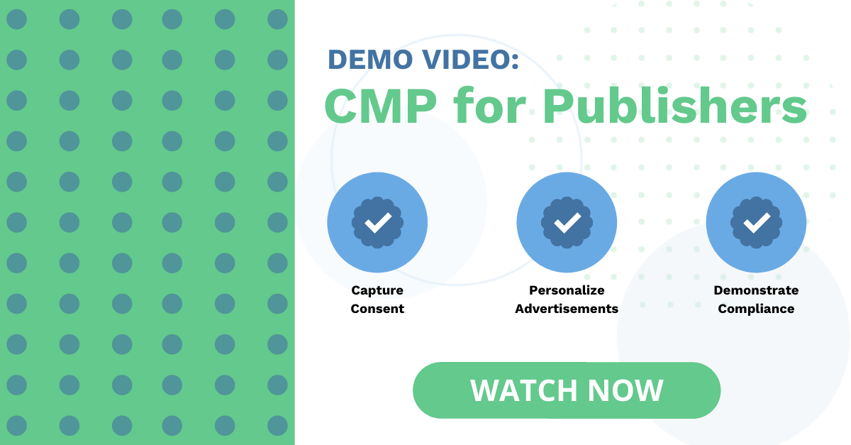 CMP for Publishers Demo Video