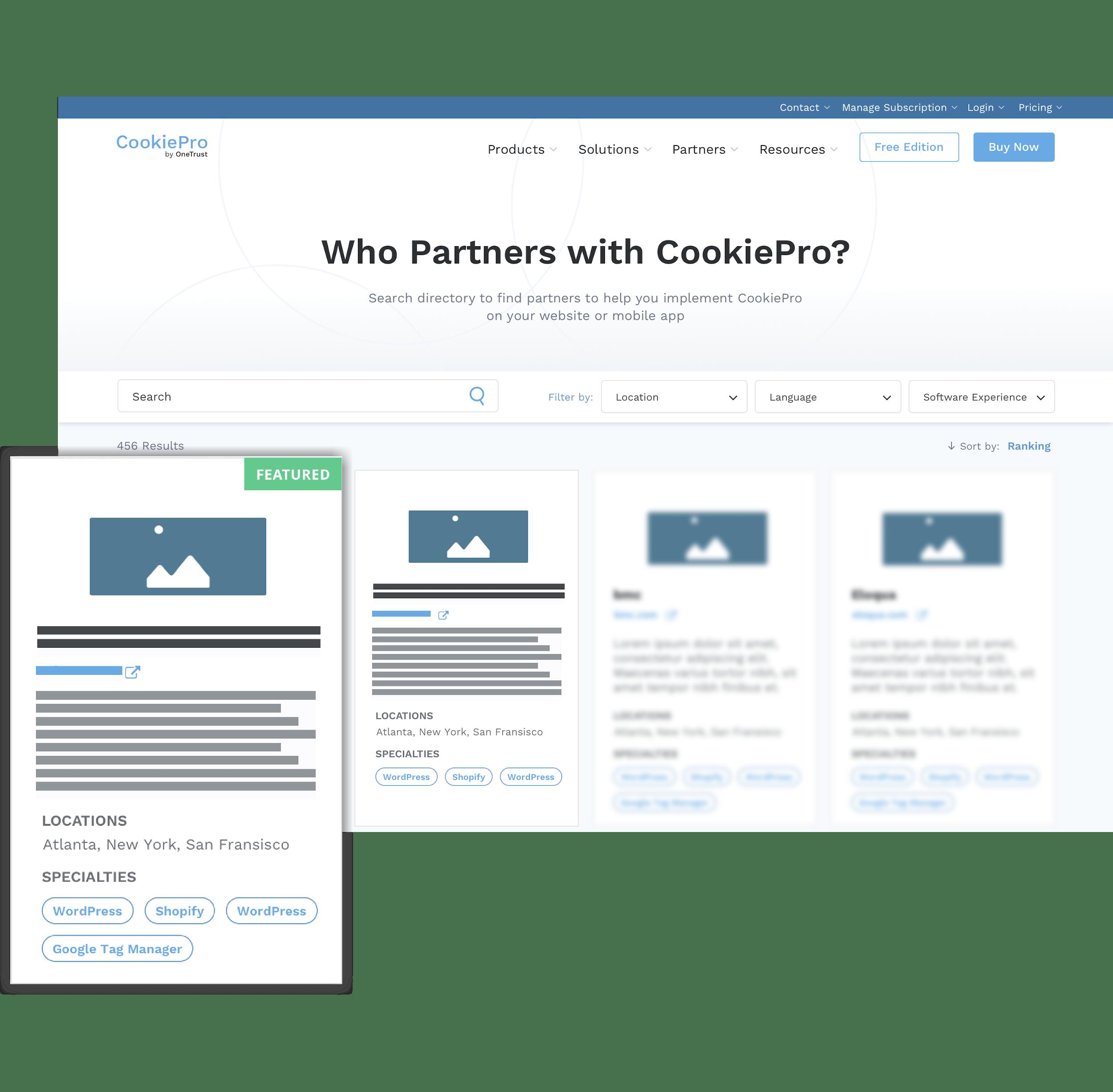 CookiePro Partner Directory