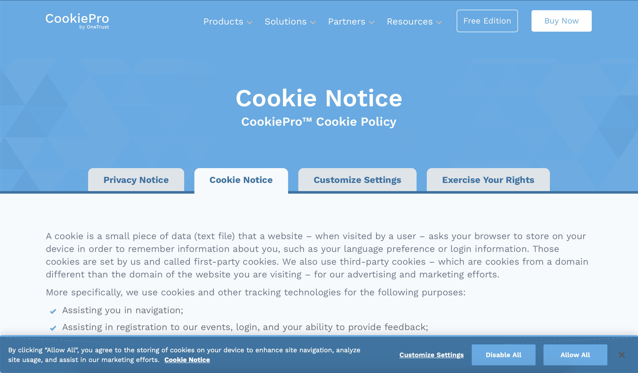 Cookie Consent Notice