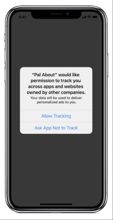 iOS IDFA App Message