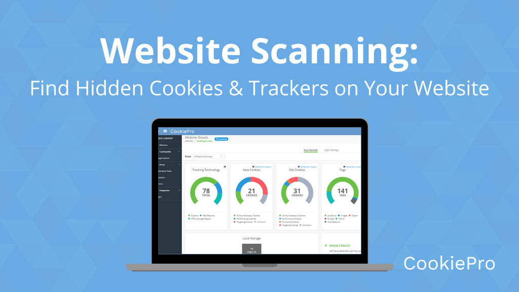 Website Scanning Hidden Cookies Trackers Website
