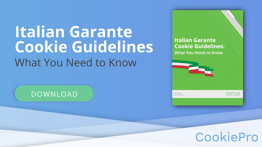 Italian Garante Cookie Guidelines
