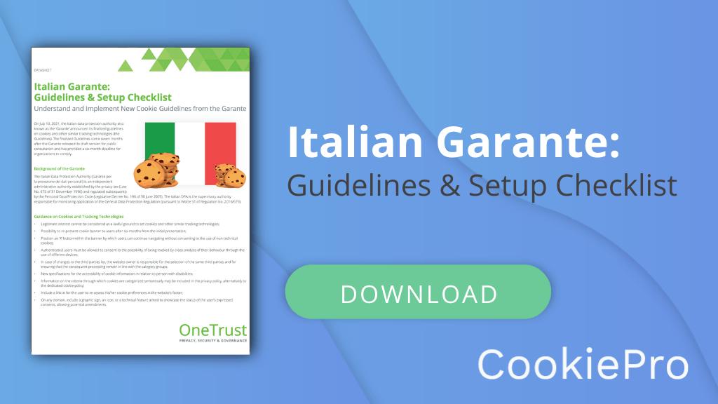 italian garante checklist
