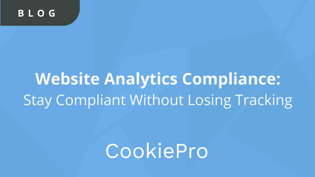 Website Analytics Compliance